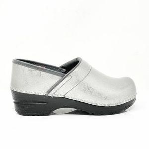 Sanita Danish Design Signature Silver Clogs